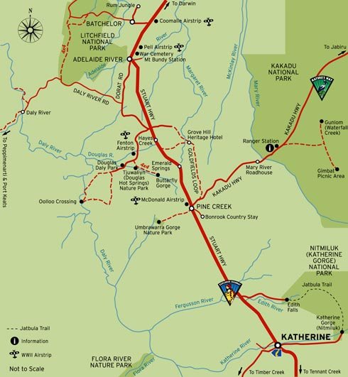 • Map of Douglas Hot Springs - credit Parks